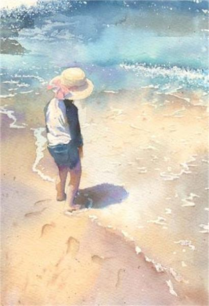 نتیجه تصویری برای ساحل و دریا کودکانه